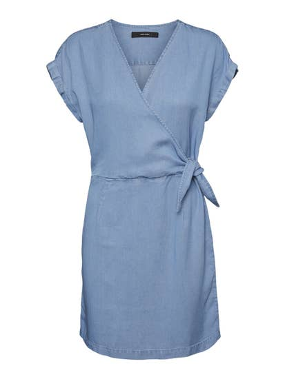 Wrap dress - blue