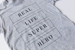 Real Life Superhero -Toddler T-shirt - Light Grey