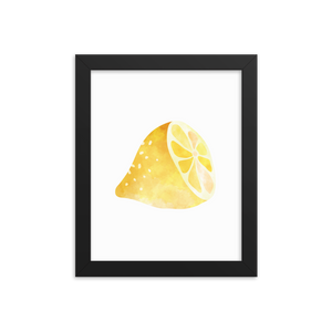 Lemon - Framed poster - Design Cloud