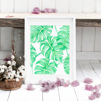 Monstera Leaves Art Print