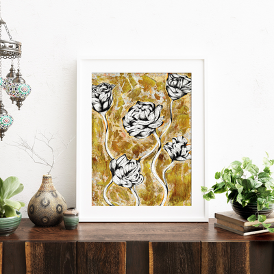 Whimsical Blooms Art Print