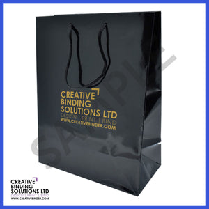 LARGE GLOSSY BRANDED LUXURY PRESENTATION BAGS