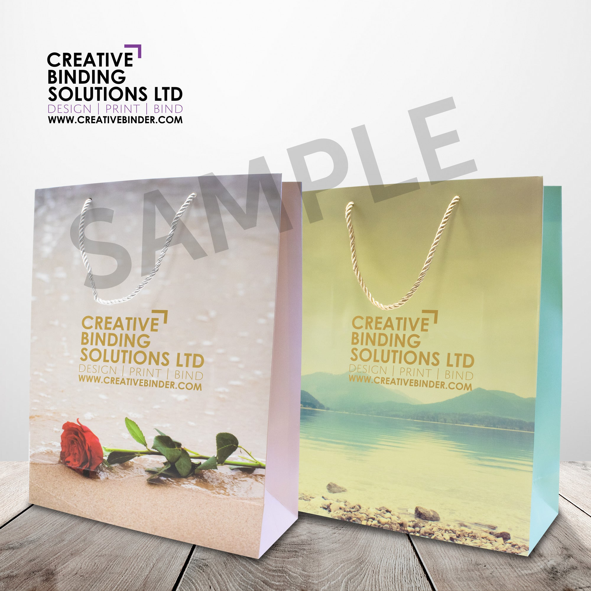 LARGE BRANDED AND PRINTED PAPER LUXURY BAGS