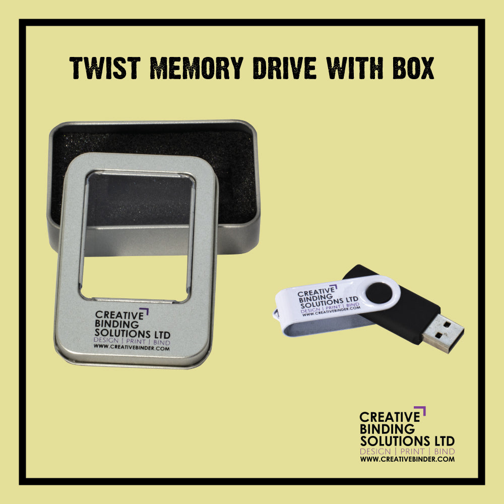 CLASSIC SWIVEL USB MEMORY DRIVE WITH THE PRESENTATION BOX