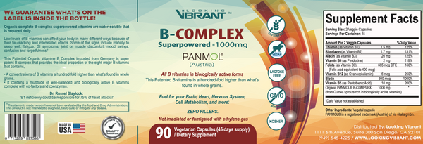 B-COMPLEX Superpowered-1000mg   (Patented organic imported from Austria)