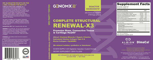 COMPLETE STRUCTURAL RENEWAL-X3