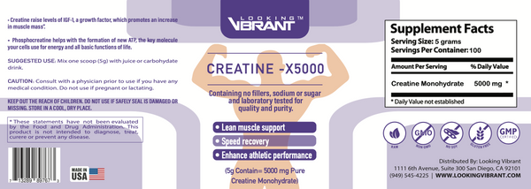 Pure Creatine-X5000 - lookingvibrantcom