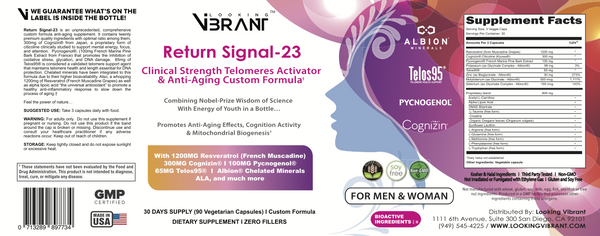 Return Signal-23. (Telomerase / Anti-Aging) - lookingvibrantcom
