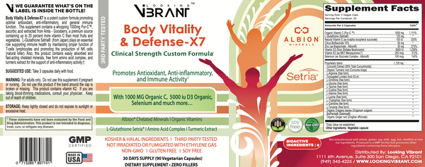BODY VITALITY & DEFENSE-X7 (Clinical Strength Antioxidant = Super Immunity) - lookingvibrantcom