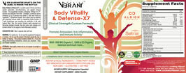 BODY VITALITY & DEFENSE-X7 (Clinical Strength Antioxidant) - lookingvibrantcom