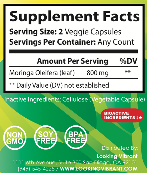 Moringa Shield (100% herbal Moringa Oleifera Leaf) - lookingvibrantcom