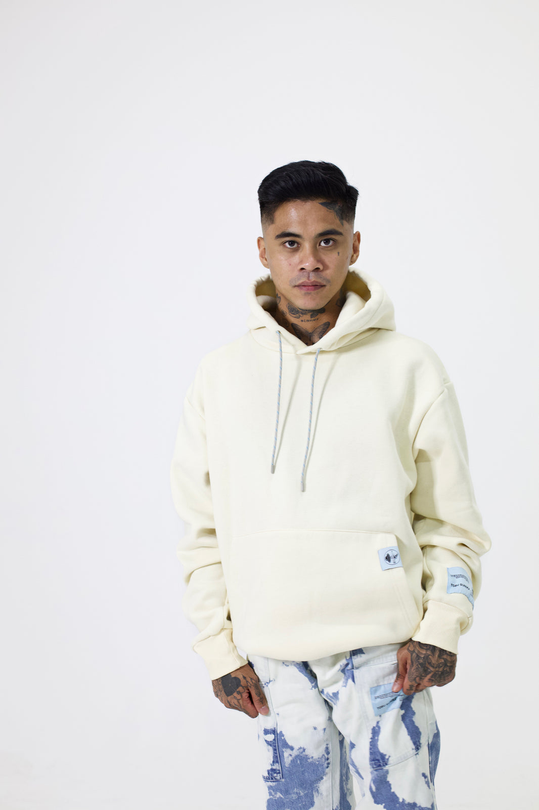 TOBU SUNIKA® Unisex Hooded Jumper (Cream)