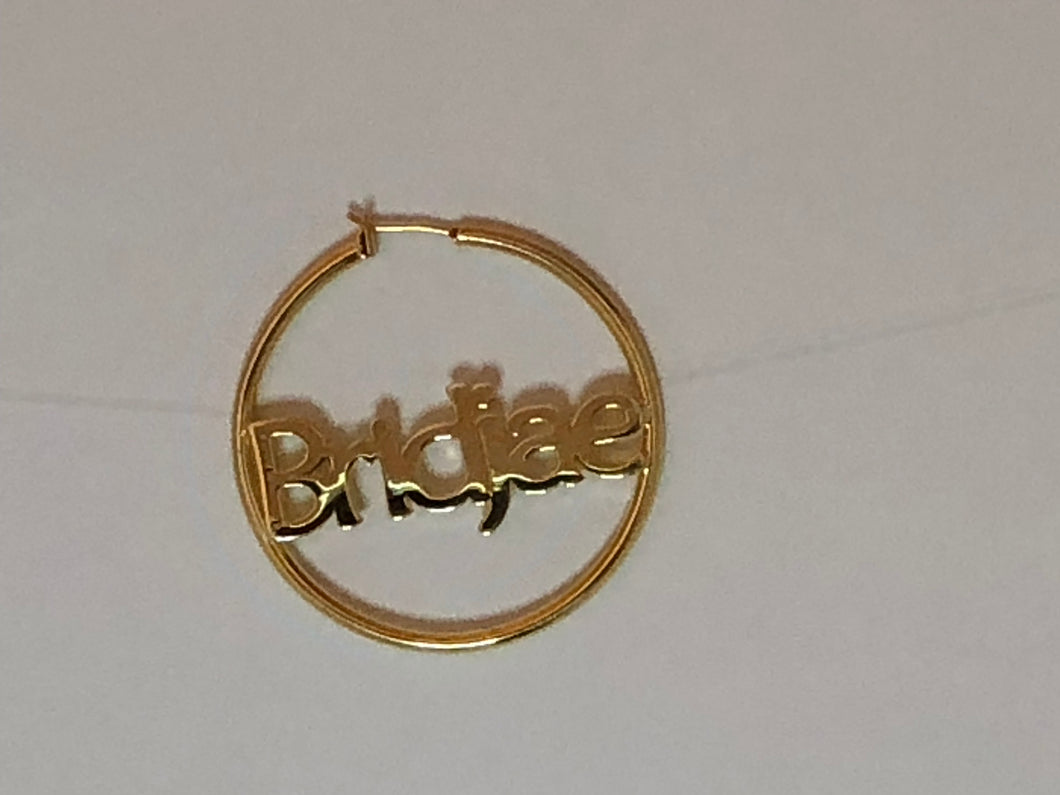 """Classy"" Personalized Earrings"