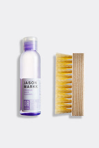 4 oz bottle premium shoe cleaner and standard wood handle brush