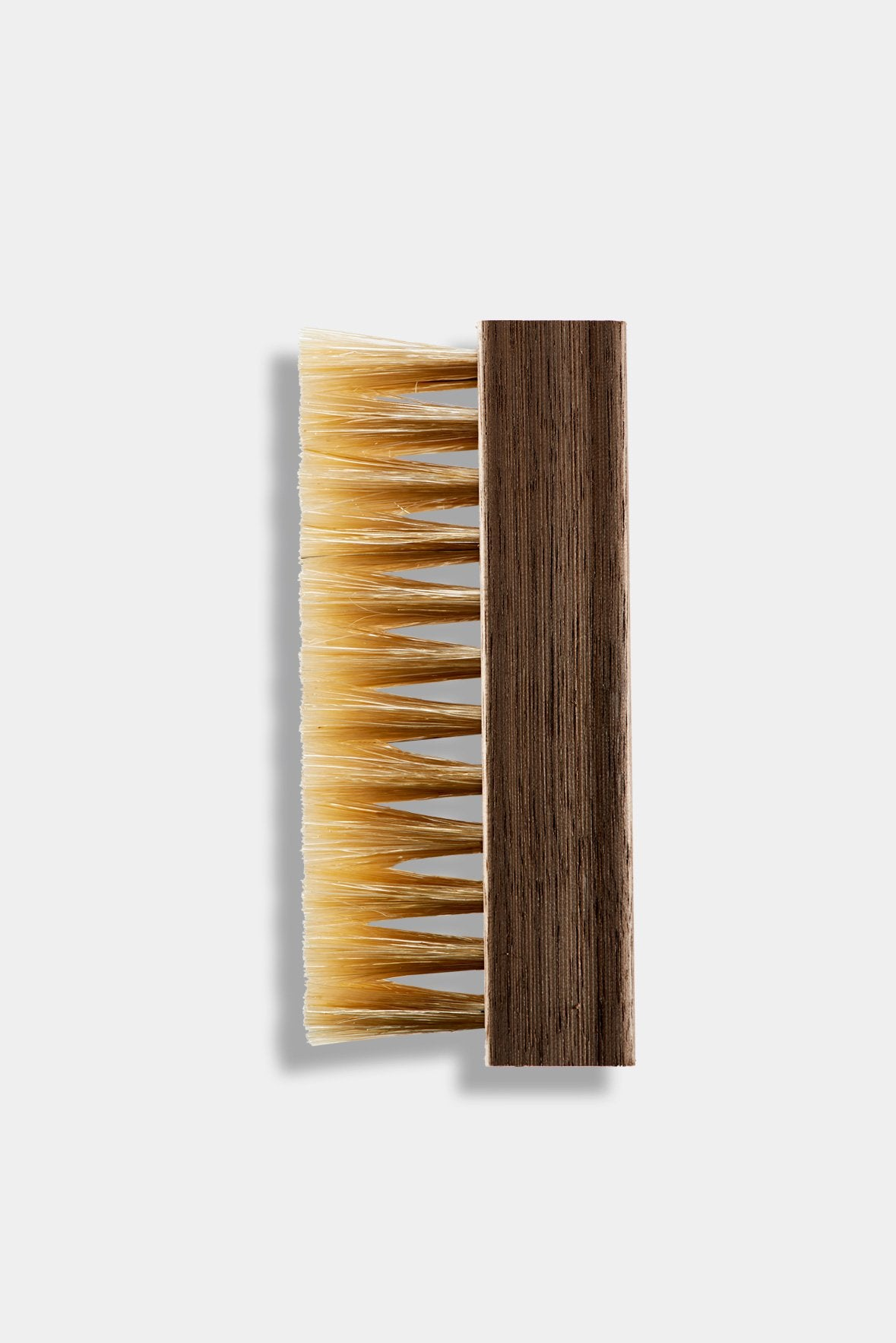 Hog Bristle brush with Walnut handle