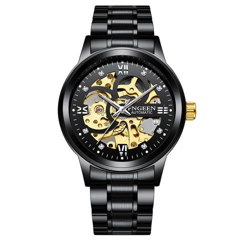 T-WINNER Black Stainless Steel Watch