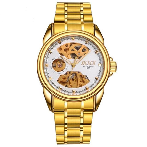 SEASONAL Gold Automatic Mechanical Men Watch
