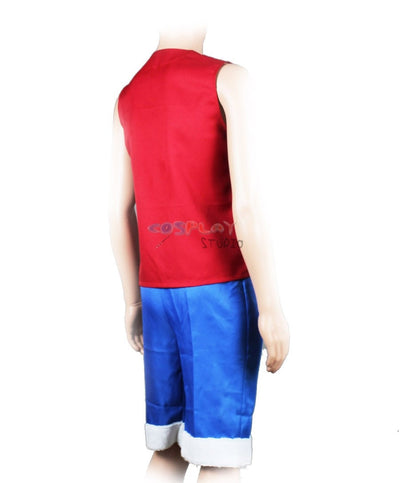 One Piece Cosplay Set Anime Monkey D Luffy Vest & Pants Red