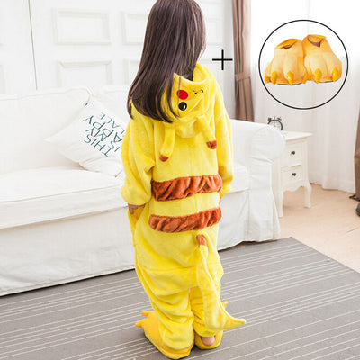 Pikachu Onesie pajama Kids Pokemon Cosplay Costume