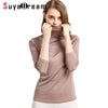 Women 100%Real Silk Turtleneck long sleeve Bottoming-shirt