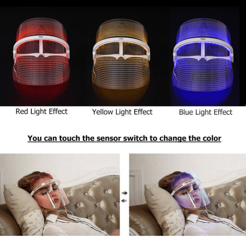 Skin Care 3 Color Facial Spa Treatment Led Beauty Device Anti Acne Wrinkle Removal Light Therapy Face Mask Beauty Instrument With A Long Standing Reputation