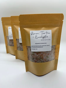 LEMON, TEA TREE & EUCALYPTUS BATH SALTS
