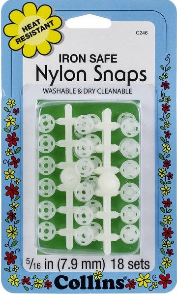 Iron Safe Nylon Snaps