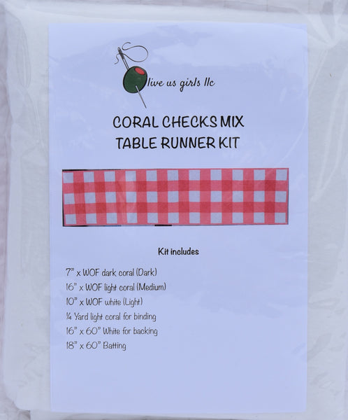 Gingham Check Mix Table Runner Kit