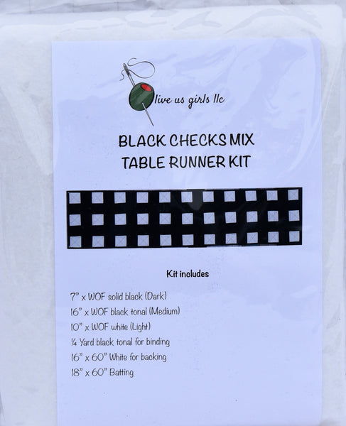 Checks Mix Buffalo Table Runner Kit