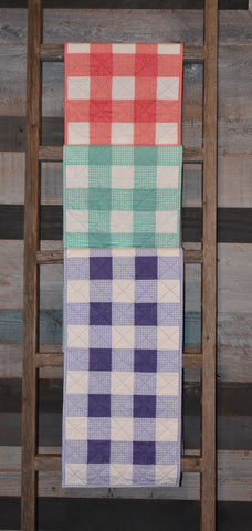 Checks Mix Table Runner FREE Digital Pattern