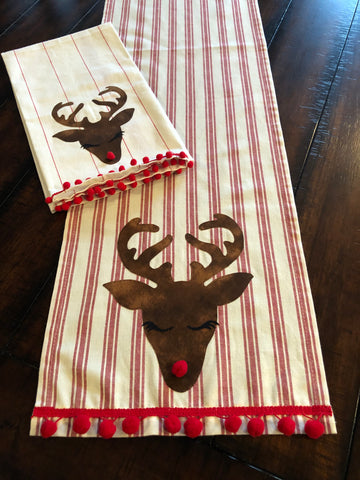 Quick & Easy Turkey/Reindeer Table Runner Digital Pattern