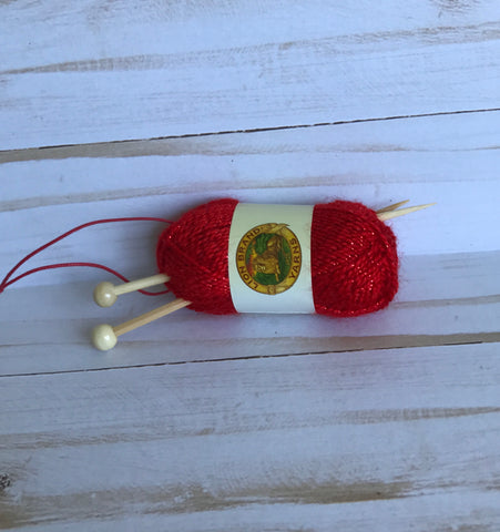 Yarn & Knit Needles Ornament