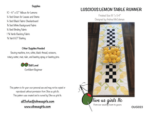 Luscious Lemon Table Runner Pattern