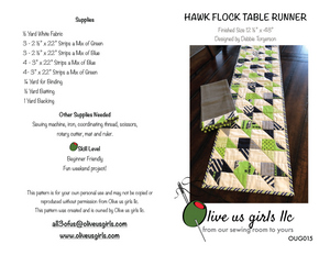 Hawk Flock Table Runner Pattern