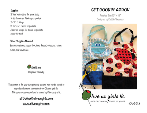 Get Cookin' Apron Pattern