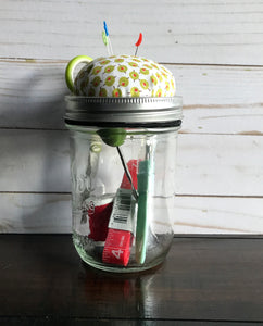 Pin Cushion Jar