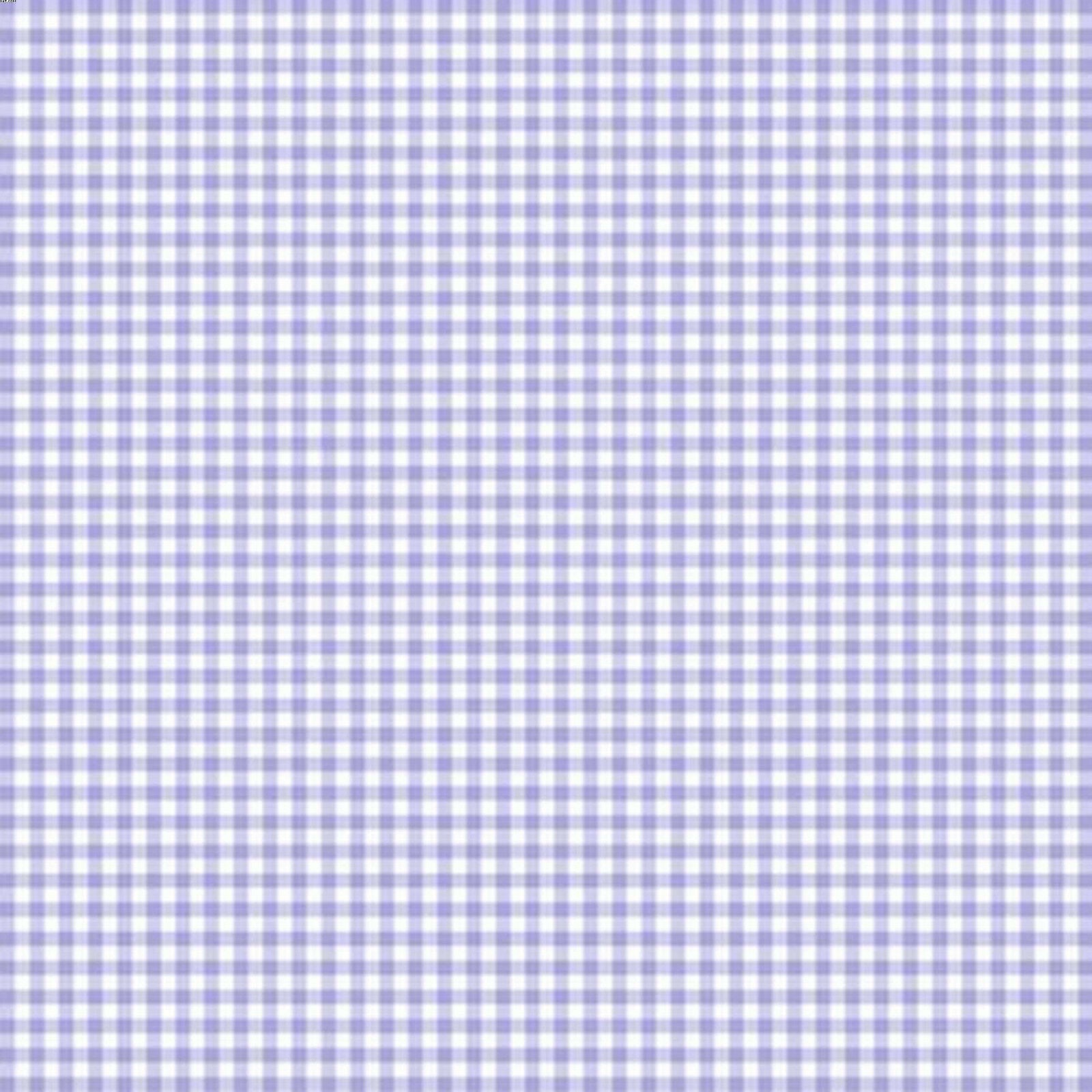 Mini Gingham Check Lilac Fabric