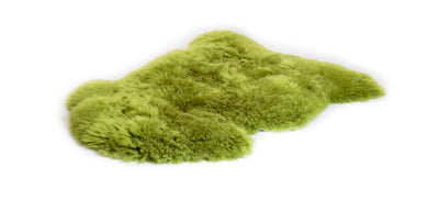 Irish sheepskin rug green