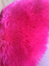 Hot Pink Irish Sheepskin Rug