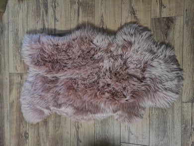 Dusty Pink Irish Sheepskin Rug