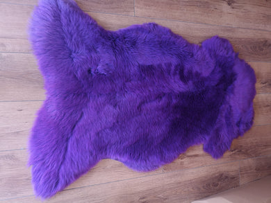 Large Purple sheepskin rug