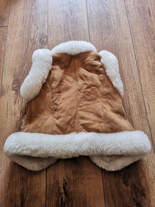 Childrens Sheepskin Spring Coat - Chestnut
