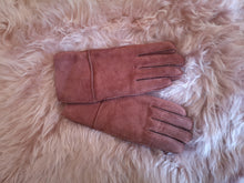 Load image into Gallery viewer, Irish Sheepskin Adult Gloves - Pink