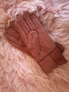 Irish Sheepskin Adult Gloves - Pink