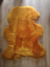 Irish Sheepskin Rug - Mustard