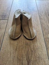 Sheepskin Baby Slippers - Light Brown