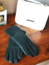 Load image into Gallery viewer, Irish leather Adult Gloves - teal