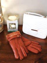 Irish Sheepskin Adult Gloves - Rusty Brown