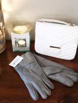 Irish leather Adult Gloves - Grey