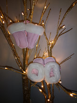Pink Sheepskin Baby Boots and Mitts Set